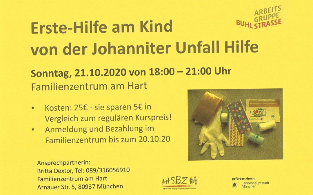 Erste-Hilfe Kurs für Eltern mit der Johanniter Unfallhilfe am 21.10.20