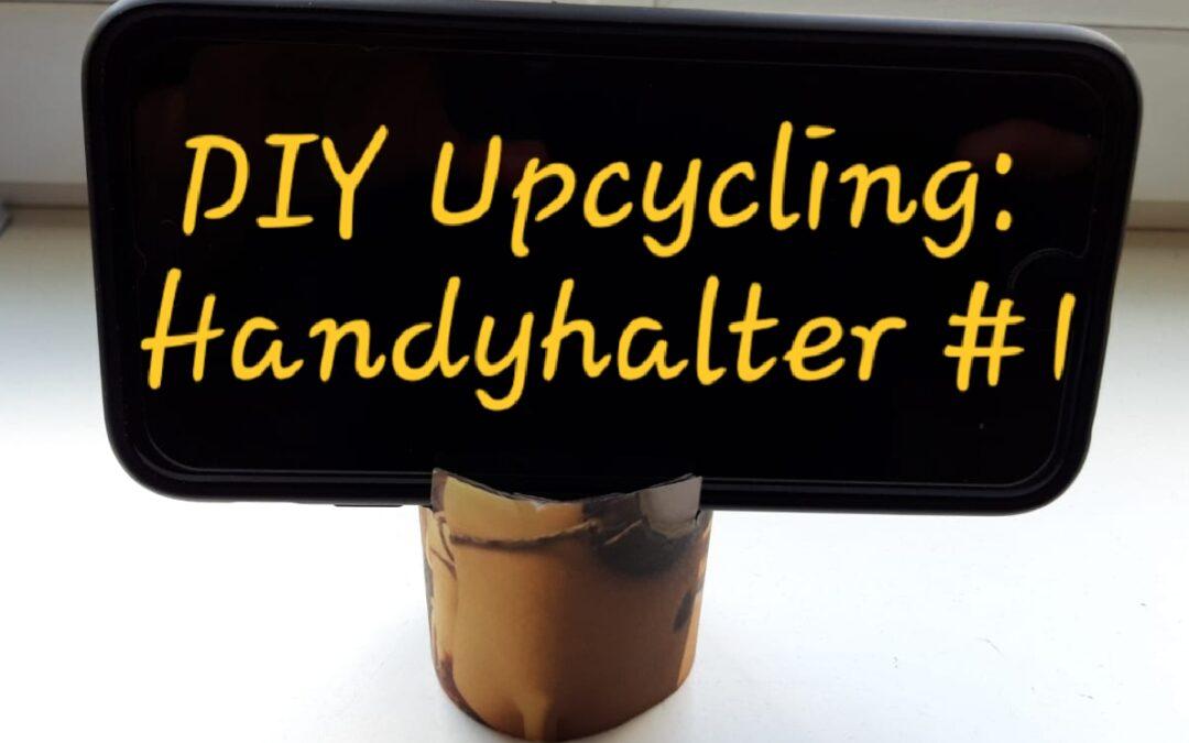 DIY Upcycling: Handyhalter aus Klopapierrolle